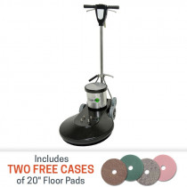 Task-Pro 1500 RPM Floor Burnisher with 2 cases of FREE pads